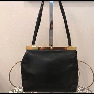 Authentic Versace vintage black leather bag